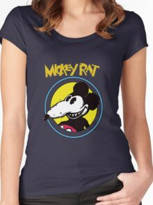 Dismaland Mickey Rat Women's Fitted Scoop T-Shirt