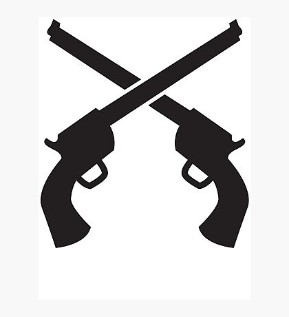 Gunslinger Guns crossed Photographic Print