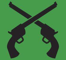 Gunslinger Guns crossed Kids Tee