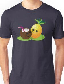 TROPICAL fruits Coconut and PINEAPPLE super cute KAWAII Unisex T-Shirt