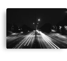 Highway - Black and White Canvas Print