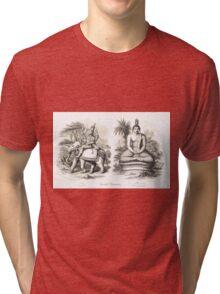 Oriental Divinities Cotama Budha (Gautama Buddha)  & Indra Tri-blend T-Shirt