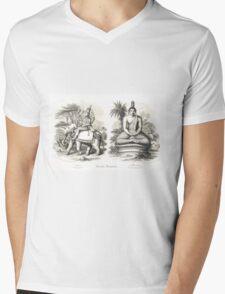 Oriental Divinities Cotama Budha (Gautama Buddha)  & Indra Mens V-Neck T-Shirt