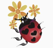 All Heart Ladybug Kids Tee