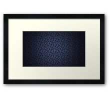 Dark flower texture Framed Print