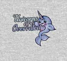 Unicorns are Overrated narwhal humor  Womens Fitted T-Shirt