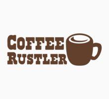 Coffee Rustler with cute mug coffee bean One Piece - Short Sleeve