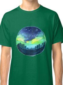 Watercolor Aurora Borealis Classic T-Shirt