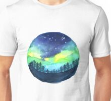 Watercolor Aurora Borealis Unisex T-Shirt