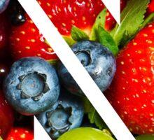 The Letter N - Fruit Sticker