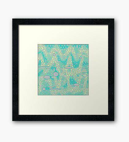 Camel Green Scales Framed Print