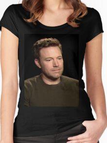Sad Affleck Women's Fitted Scoop T-Shirt