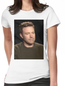 Sad Affleck Womens Fitted T-Shirt