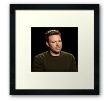 Sad Affleck Framed Print
