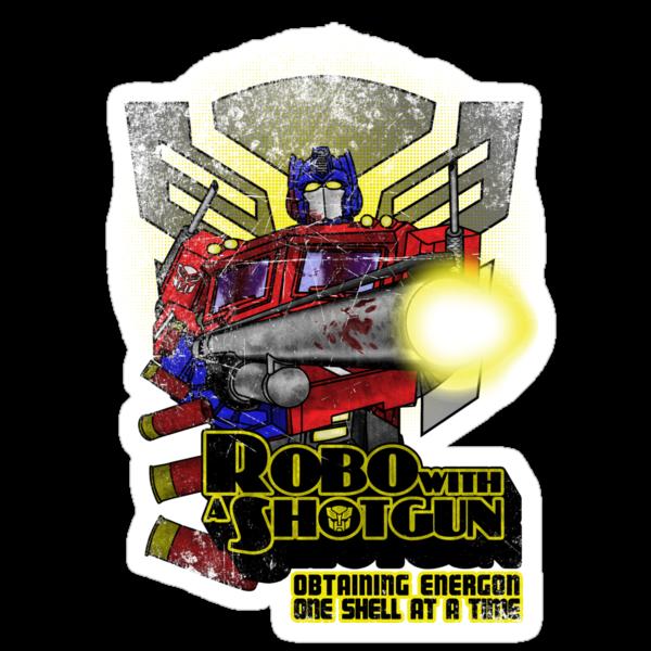 Robo With A Shotgun by BigOrdeal