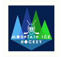 Mountain Ice Hockey Art Print