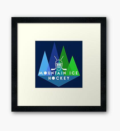 Mountain Ice Hockey Framed Print