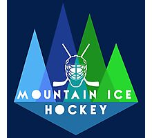 Mountain Ice Hockey Photographic Print