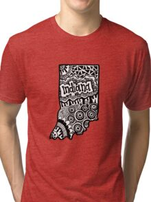 Indiana State Zentangle Tri-blend T-Shirt