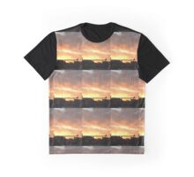 Industrial Sunset Graphic T-Shirt