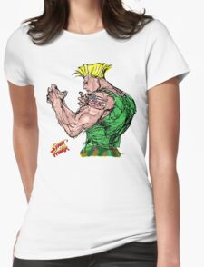 Streetfighter 2 Guile Womens Fitted T-Shirt