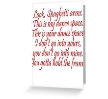 Dancing Dirty Greeting Card