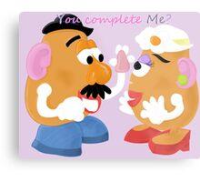Mr and Mrs Potato Head- You Complete Me? Metal Print