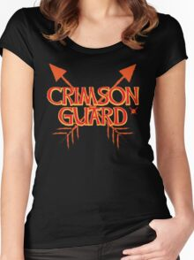 CRIMSON GUARD sigil with arrows crossed  Women's Fitted Scoop T-Shirt