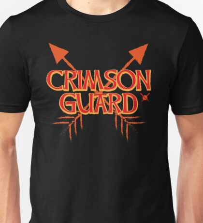 CRIMSON GUARD sigil with arrows crossed  Unisex T-Shirt