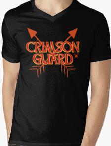 CRIMSON GUARD sigil with arrows crossed  Mens V-Neck T-Shirt