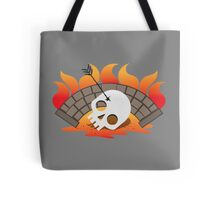 BRIDGEBURNERS fanart Burning bridge with an impaled skull Tote Bag