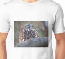 Red-Tailed Hawk Eye Set on Sky Unisex T-Shirt