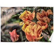 Easter Tulips Poster