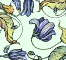 vintage floral pattern watercolor drawing Sticker