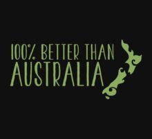 100% percent better than Australia NEW ZEALAND Kids Tee