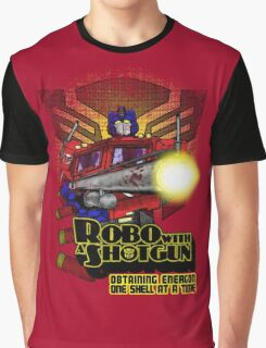 Robo With A Shotgun Graphic T-Shirt