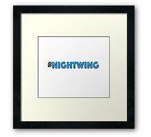 #Nightwing Framed Print