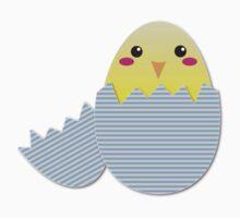 Super cute chicken in a broken egg Baby Tee