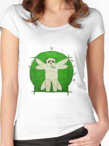 Da Vinci Panda Women's Fitted Scoop T-Shirt