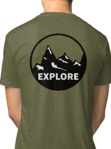 Explore Mountains  Tri-blend T-Shirt