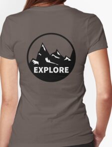 Explore Mountains  Womens Fitted T-Shirt