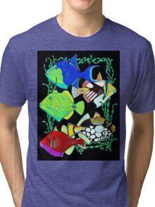Humu-Humu- Trigger Fish Tri-blend T-Shirt
