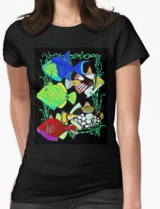 Humu-Humu- Trigger Fish Womens Fitted T-Shirt