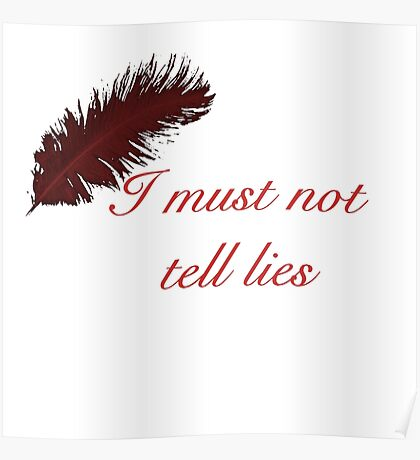 I Must Not Tell Lies Poster