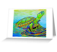 Painted Water Turtle Greeting Card