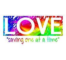 Love Saving  Photographic Print