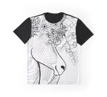 Zebra With Flowers in its Hair Graphic T-Shirt