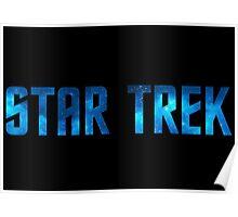 Star Trek Title (Stars) Poster