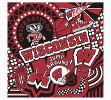 Wisconsin Collage Kids Tee