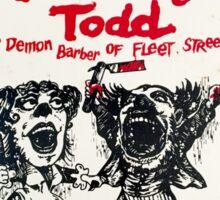 The Demon Barber of Fleet Street Sticker